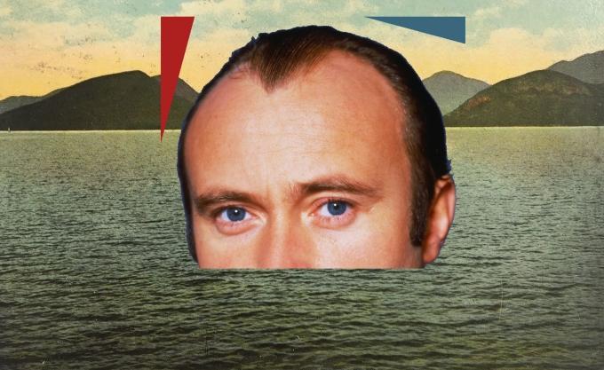 Phil Collins sort d'un lac paisible, façon Loch Ness. Effrayant.
